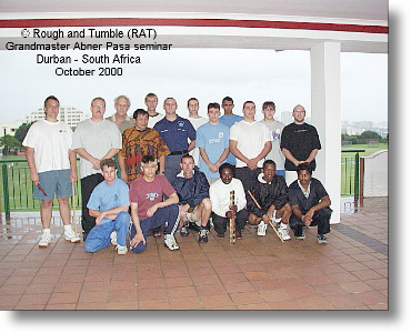 Grandmaster Abner Pasa and participants during a seminar in Durban, South Africa